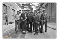 L'équipe des compresseurs, Solvay, Bernburg, Deutschland, 1992 - argentique