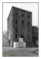 La tour Malakoff du puits Rheinpreussen 1 (1857), Duisburg-Homberg, Ruhr, Deutschland, 2005 - argentique