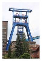 Chevalement portique du puits II, Kopalnia Jankowice, Rybnik, Slask, Polska, 2008 - numérique