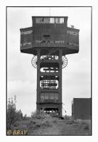 Tour d'extraction du charbonnage de Folschviller, Lorraine,France, 2009 - numérique