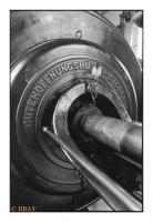 Machine d'extraction à vapeur du puits Karl Liebknecht, Oelsnitz/Erzgebirge, Sachsen, Deutschland, 2007 - argentique