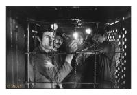 Dans la cage, Charbonnage du Roton, Farciennes, Belgique, 1982 - argentique